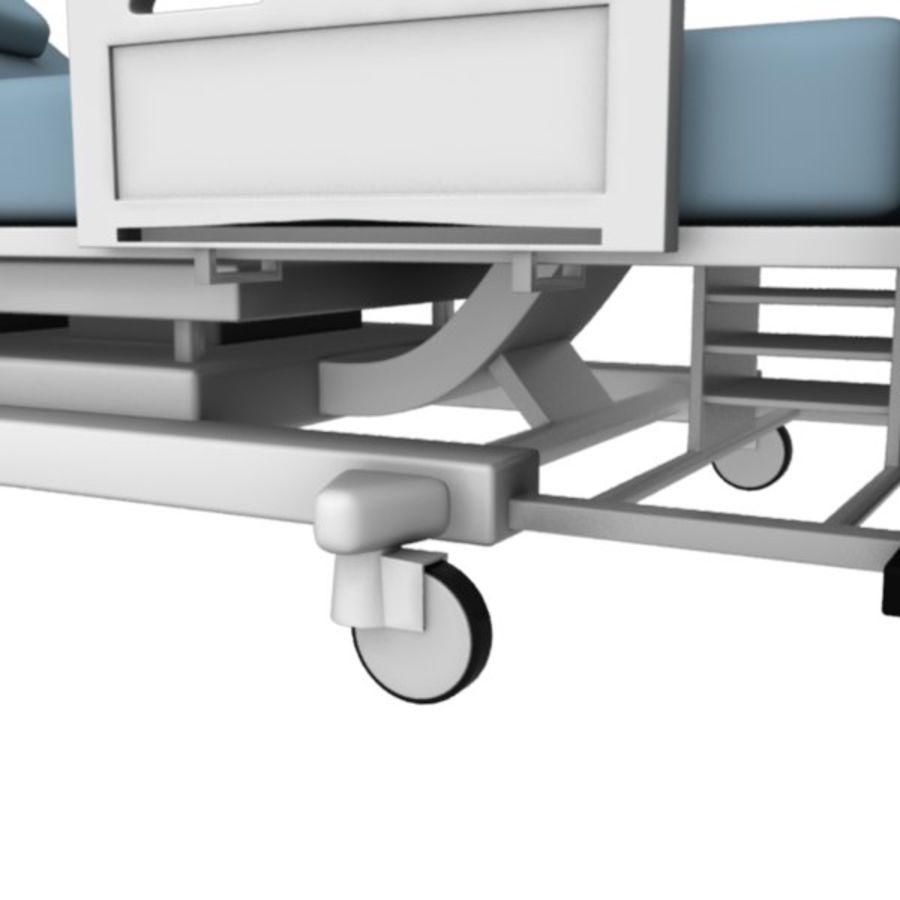 Ziekenhuis bed royalty-free 3d model - Preview no. 8