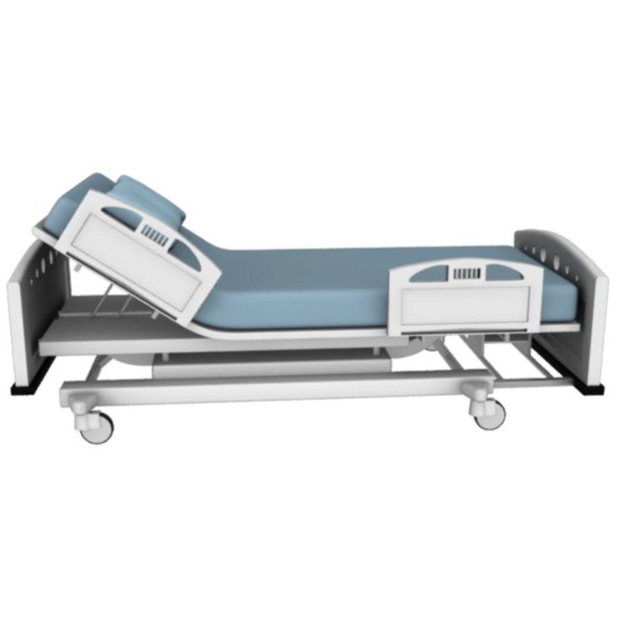 Ziekenhuis bed royalty-free 3d model - Preview no. 10
