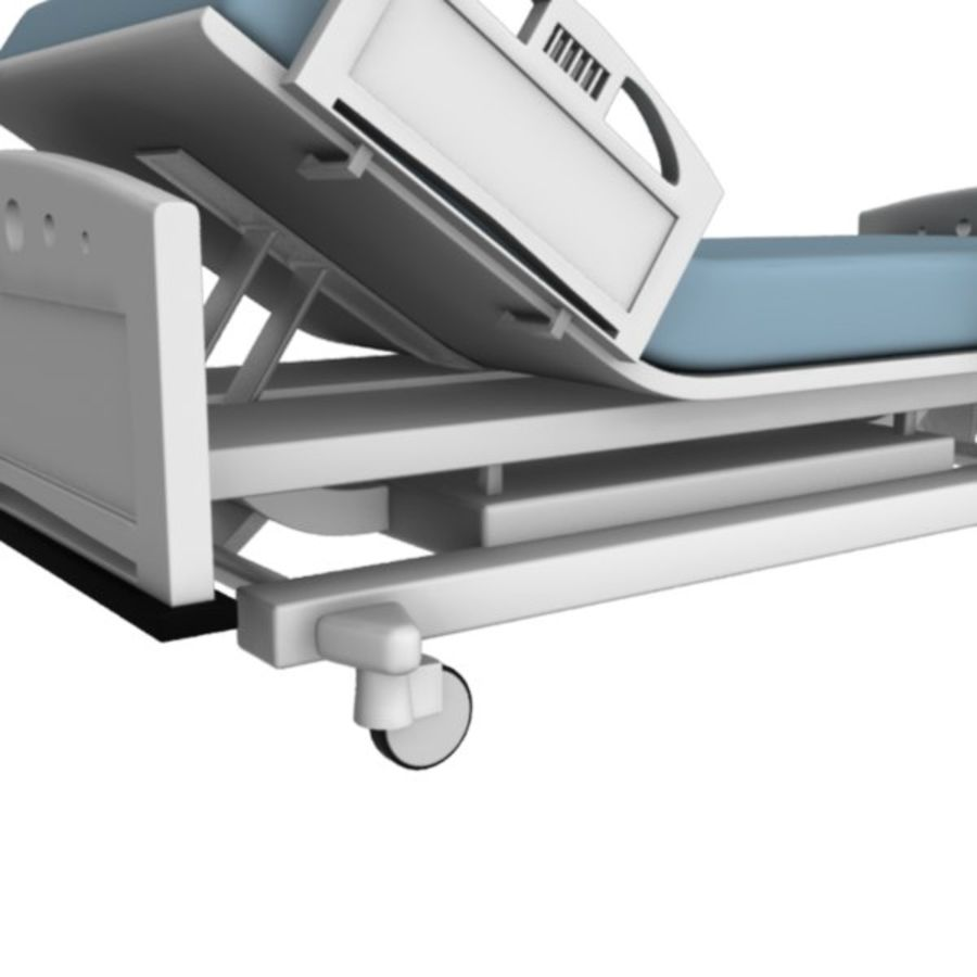 Ziekenhuis bed royalty-free 3d model - Preview no. 5
