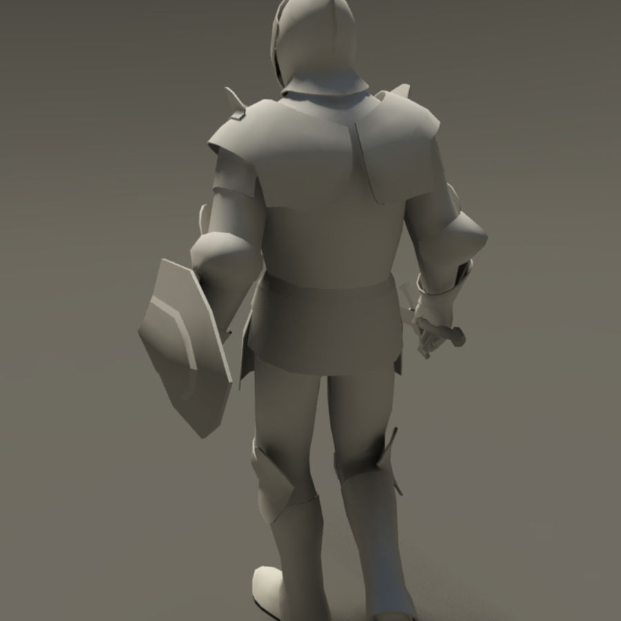 Medieval knight (Rigged_CAT) royalty-free 3d model - Preview no. 4