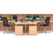 Estaciones de trabajo de oficina1 modelo 3d