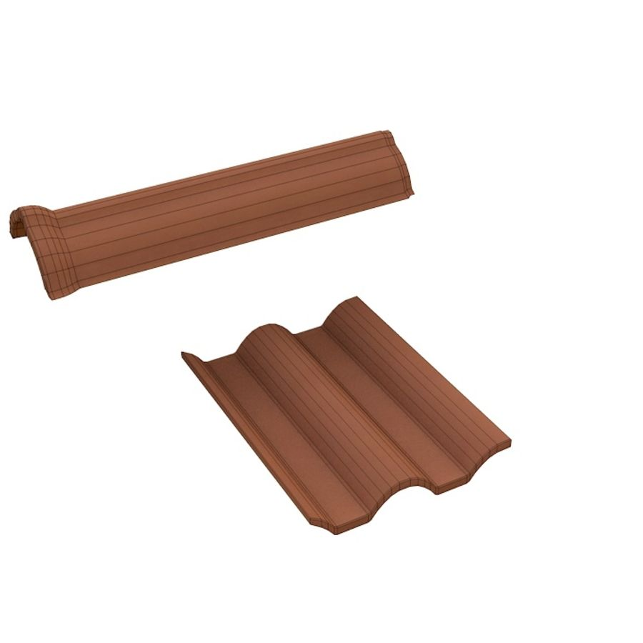 Roof Tile royalty-free 3d model - Preview no. 6