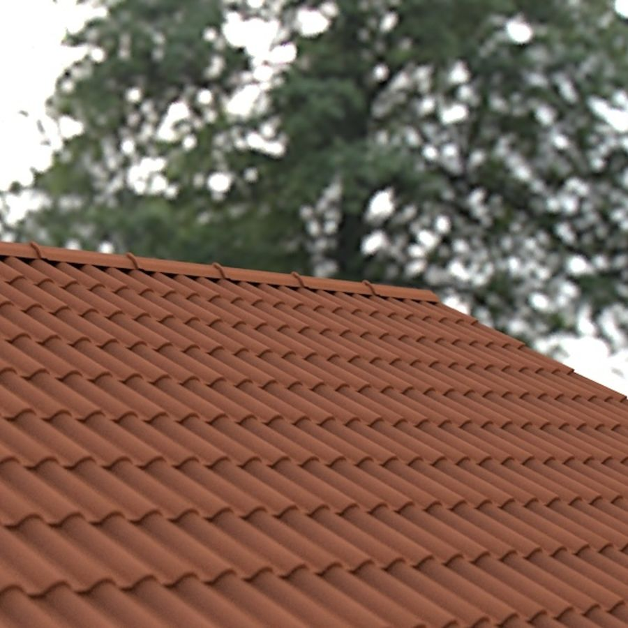 Roof Tile royalty-free 3d model - Preview no. 3