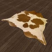 Tappeto in pelle di mucca 3d model