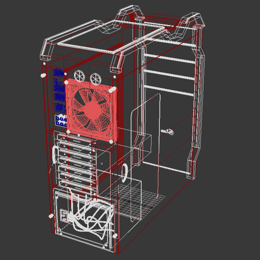 PC case Prologix royalty-free 3d model - Preview no. 5
