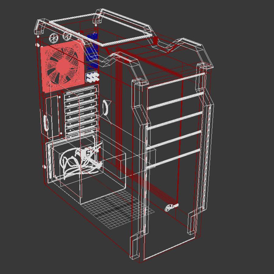 PC case Prologix royalty-free 3d model - Preview no. 4