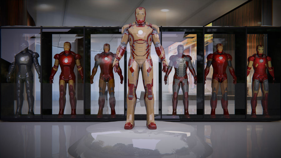 Armature di Iron Man royalty-free 3d model - Preview no. 1