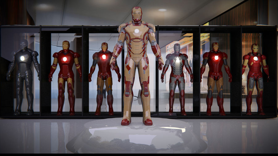 Armature di Iron Man royalty-free 3d model - Preview no. 2