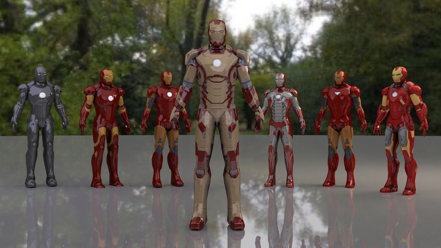 Armature di Iron Man royalty-free 3d model - Preview no. 4