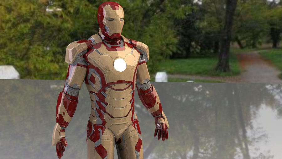 Armature di Iron Man royalty-free 3d model - Preview no. 5