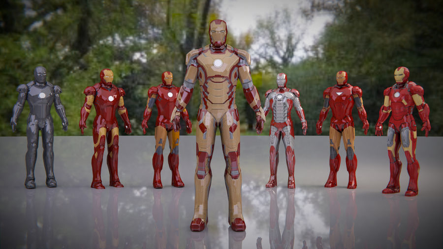 Armature di Iron Man royalty-free 3d model - Preview no. 3