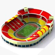 Cartoon Stadium 3d model