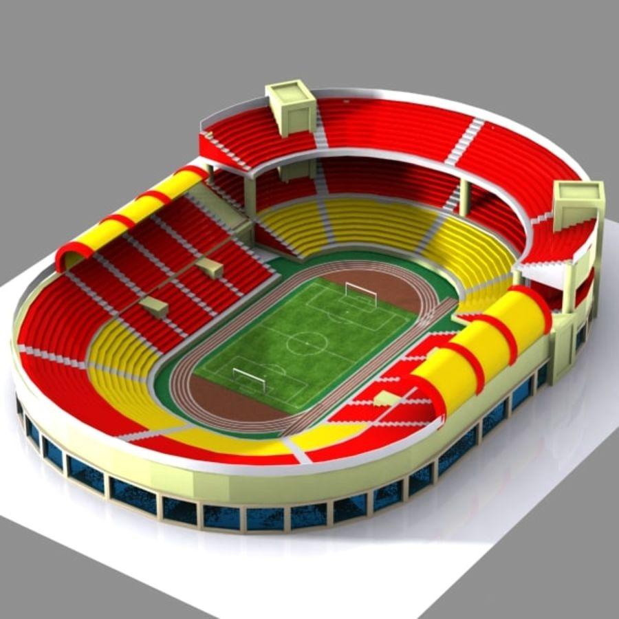 Cartoon Stadium royalty-free 3d model - Preview no. 2