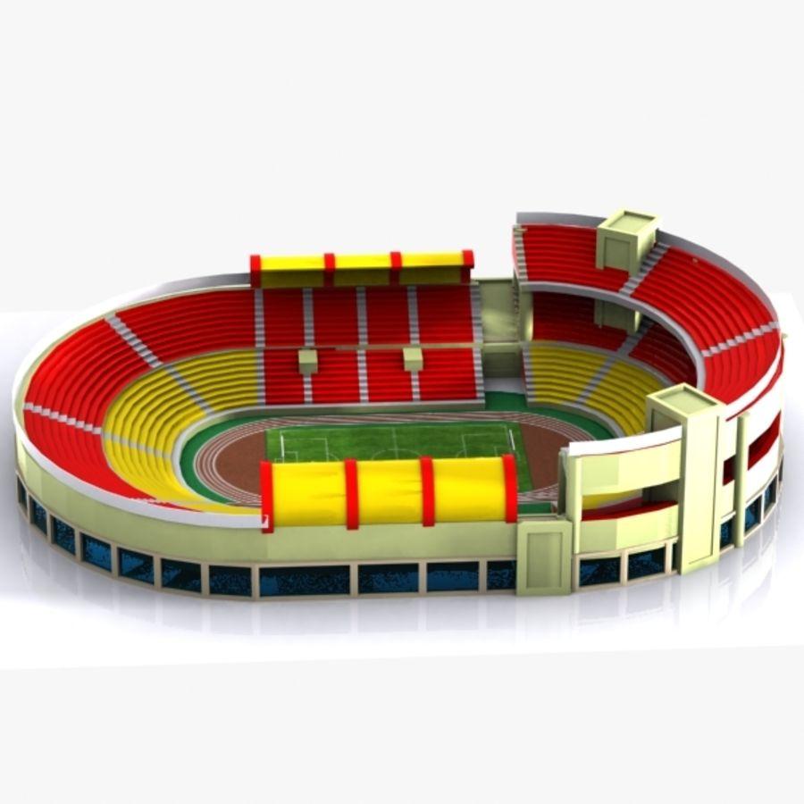 Cartoon Stadium royalty-free 3d model - Preview no. 5