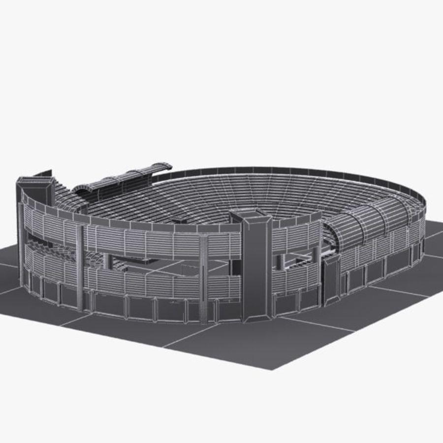 Cartoon Stadium royalty-free 3d model - Preview no. 9