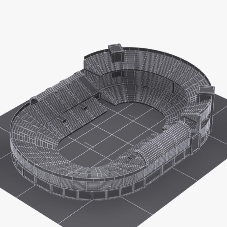 Cartoon Stadium royalty-free 3d model - Preview no. 7