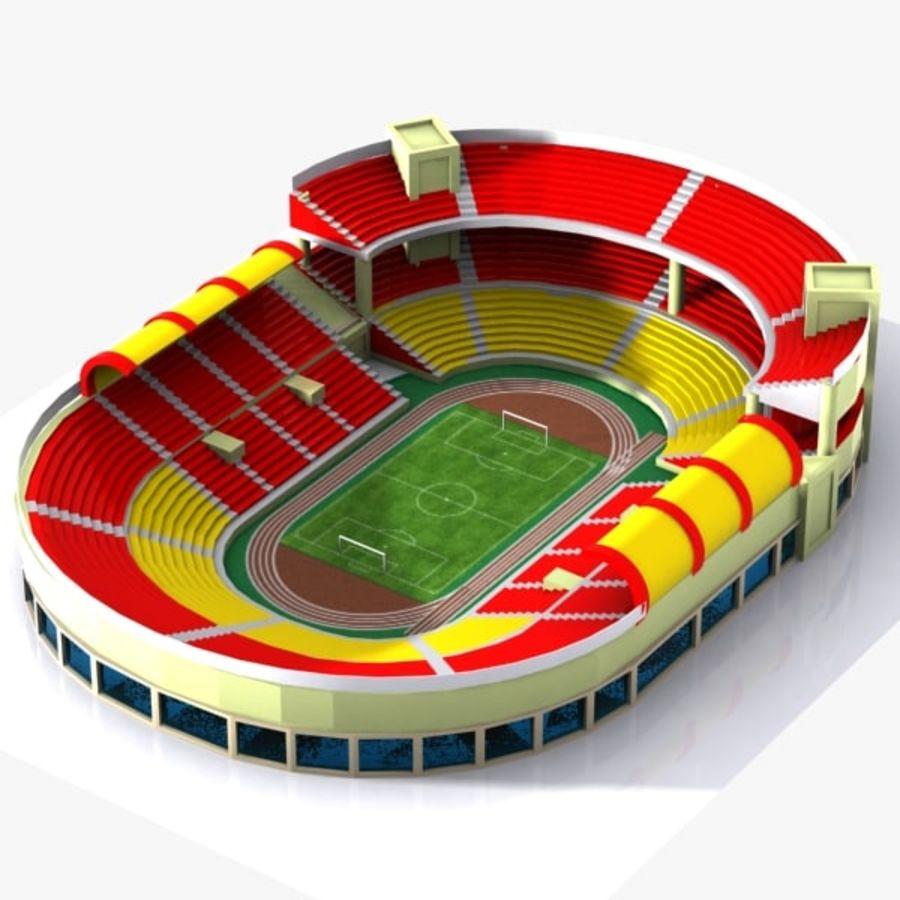 Cartoon Stadium royalty-free 3d model - Preview no. 1