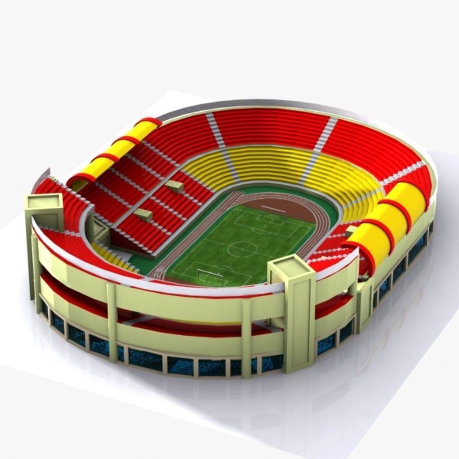 Cartoon Stadium royalty-free 3d model - Preview no. 4