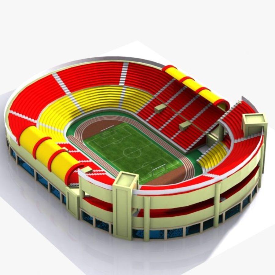Cartoon Stadium royalty-free 3d model - Preview no. 3