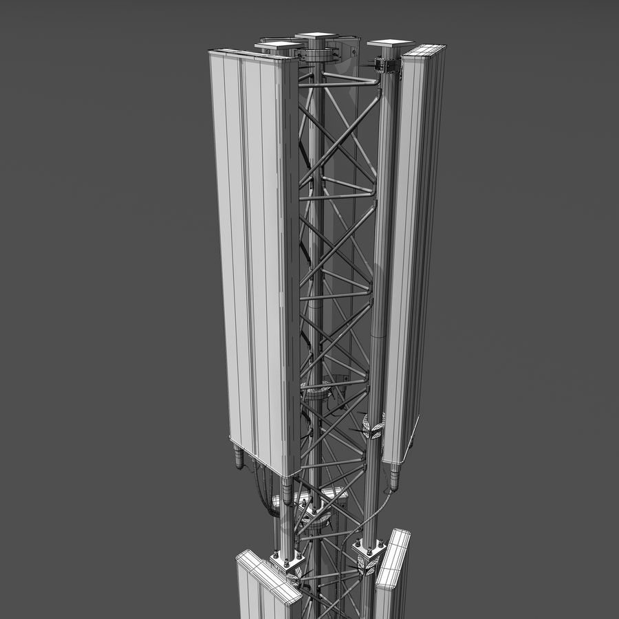 Cell Antenna B royalty-free 3d model - Preview no. 10