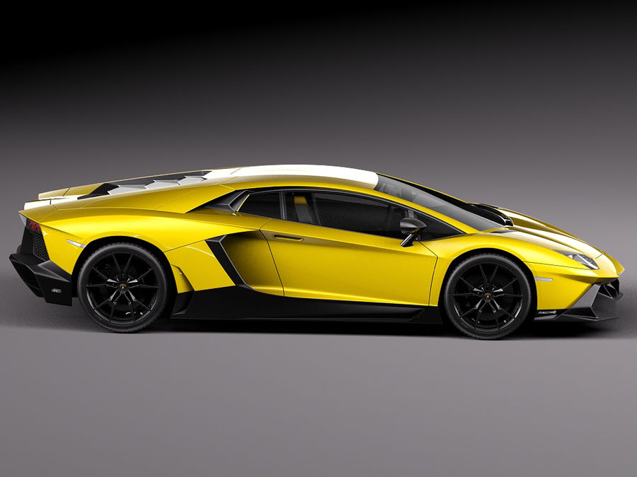 Lamborghini Aventador LP720-4 50-årsjubileum 2013 royalty-free 3d model - Preview no. 7