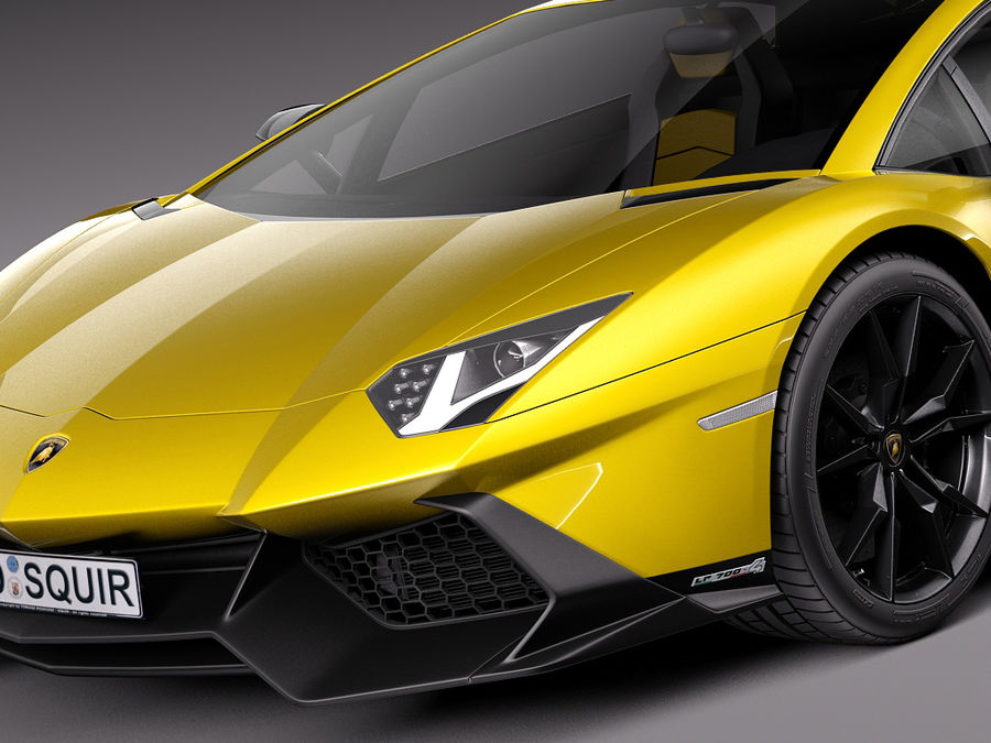 Lamborghini Aventador LP720-4 50-årsjubileum 2013 royalty-free 3d model - Preview no. 3