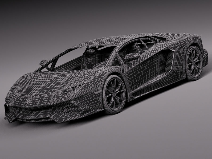 Lamborghini Aventador LP720-4 50-årsjubileum 2013 royalty-free 3d model - Preview no. 17
