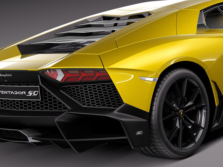 Lamborghini Aventador LP720-4 50-årsjubileum 2013 royalty-free 3d model - Preview no. 4