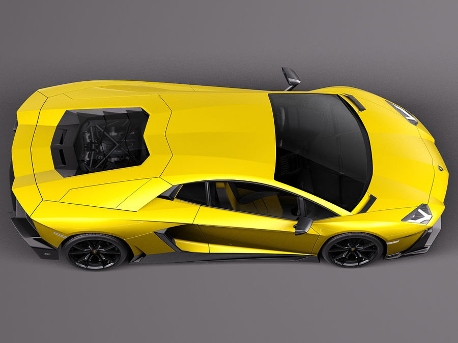 Lamborghini Aventador LP720-4 50-årsjubileum 2013 royalty-free 3d model - Preview no. 8