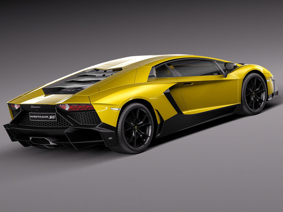 Lamborghini Aventador LP720-4 50-årsjubileum 2013 royalty-free 3d model - Preview no. 5