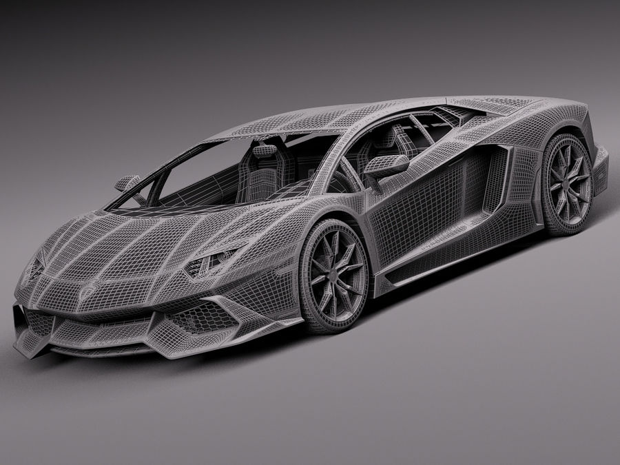 Lamborghini Aventador LP720-4 50-årsjubileum 2013 royalty-free 3d model - Preview no. 15