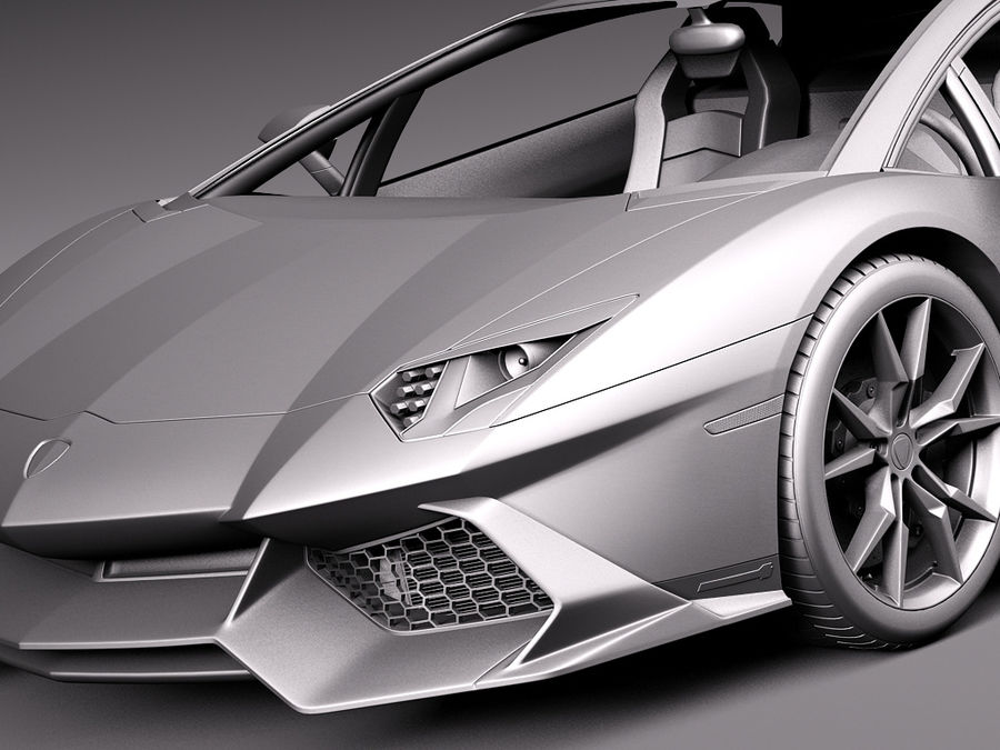 Lamborghini Aventador LP720-4 50-årsjubileum 2013 royalty-free 3d model - Preview no. 12