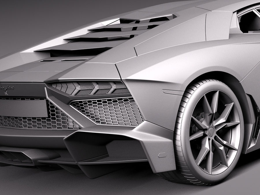 Lamborghini Aventador LP720-4 50-årsjubileum 2013 royalty-free 3d model - Preview no. 13