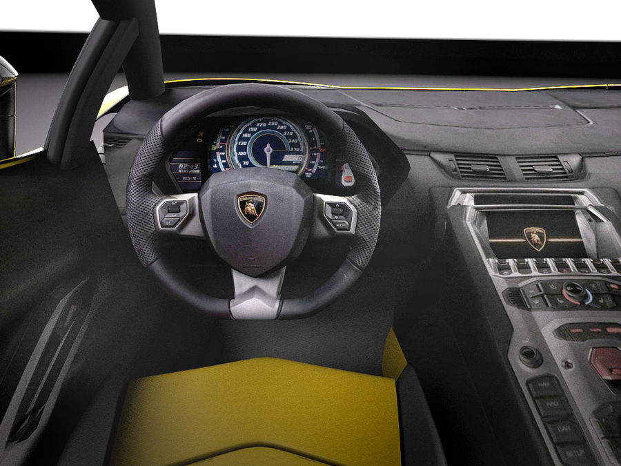Lamborghini Aventador LP720-4 50-årsjubileum 2013 royalty-free 3d model - Preview no. 10