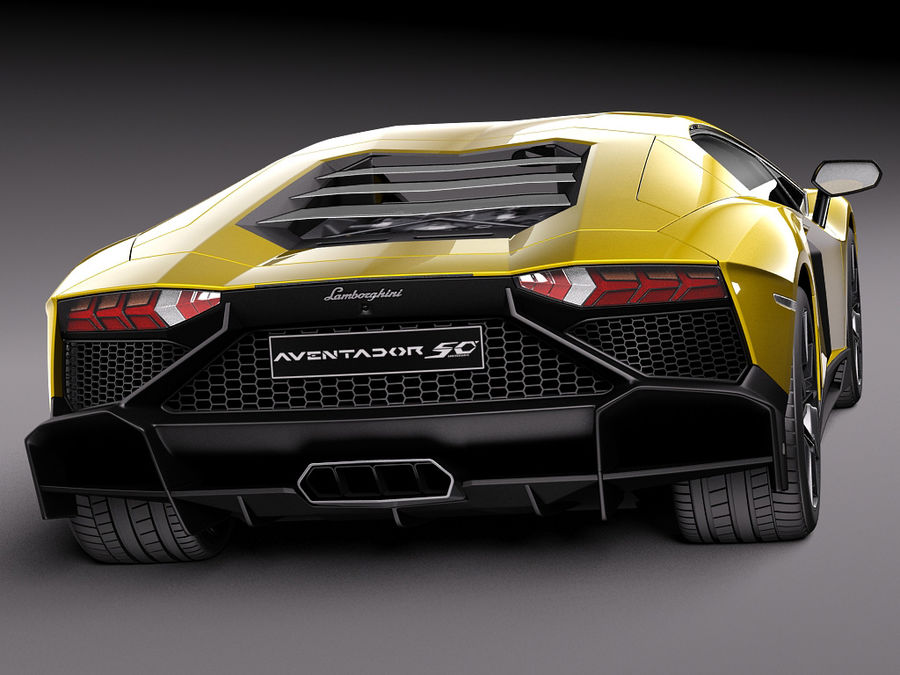 Lamborghini Aventador LP720-4 50-årsjubileum 2013 royalty-free 3d model - Preview no. 6