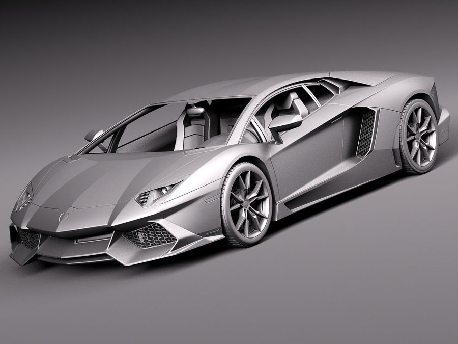 Lamborghini Aventador LP720-4 50-årsjubileum 2013 royalty-free 3d model - Preview no. 11