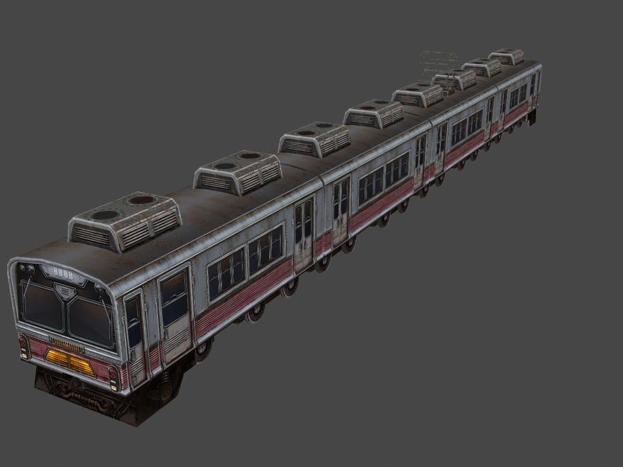 低ポリ列車01 royalty-free 3d model - Preview no. 4