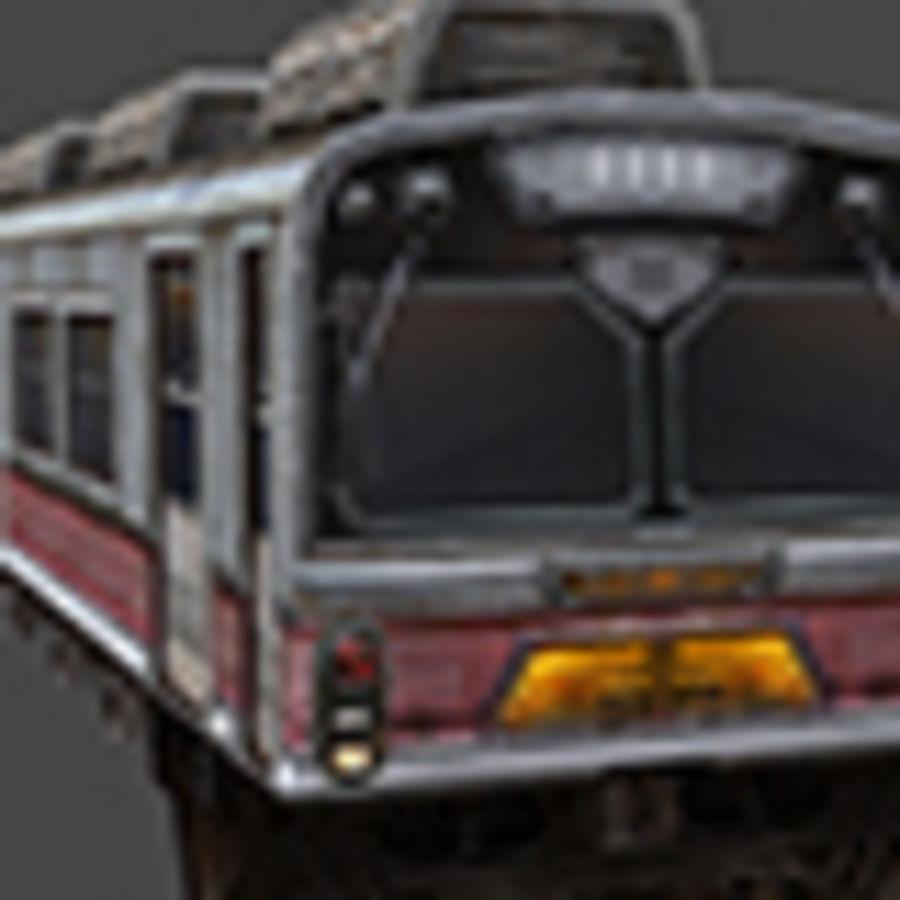 低ポリ列車01 royalty-free 3d model - Preview no. 5