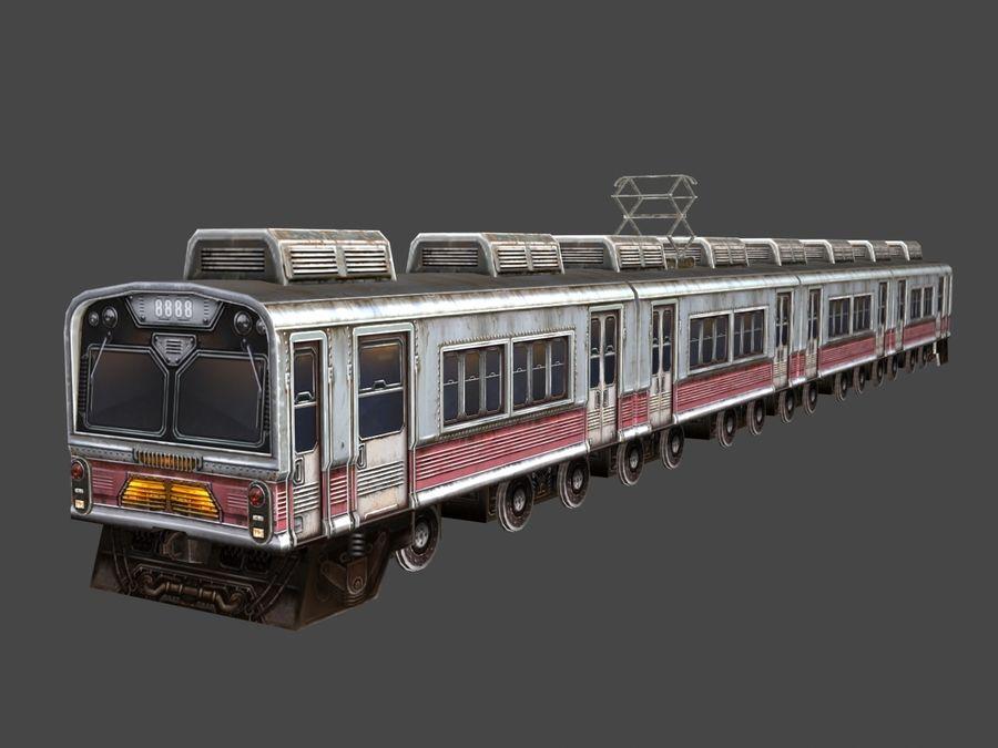 低ポリ列車01 royalty-free 3d model - Preview no. 1