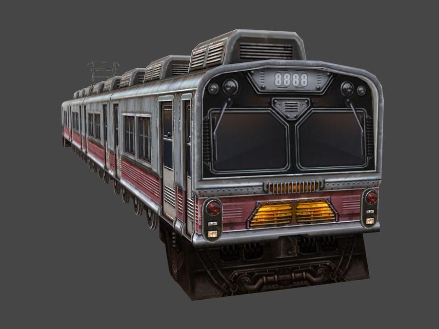 低ポリ列車01 royalty-free 3d model - Preview no. 3