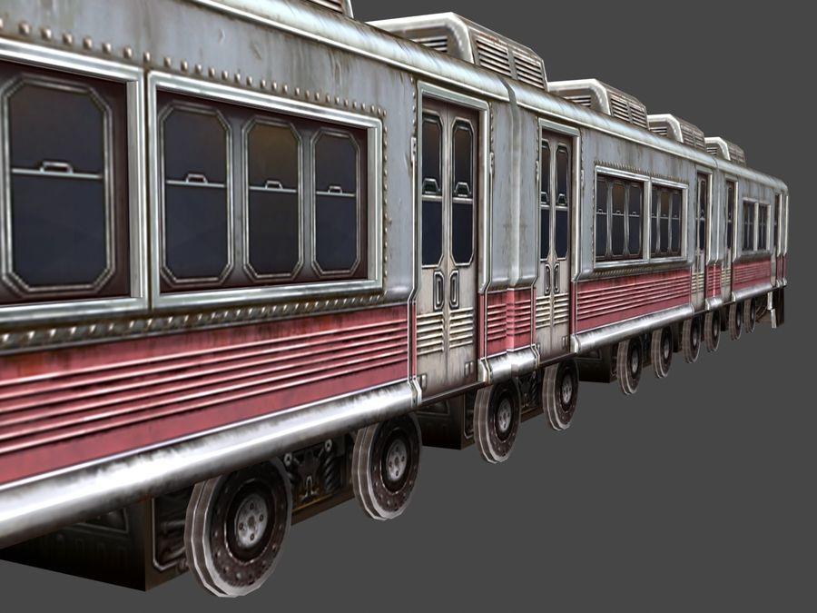 低ポリ列車01 royalty-free 3d model - Preview no. 2