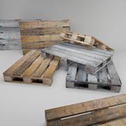 Oude houten pallet 3d model