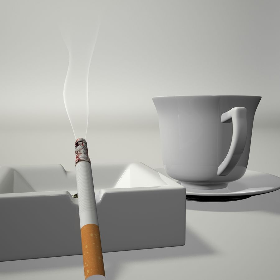 Kahve ve Sigara royalty-free 3d model - Preview no. 7