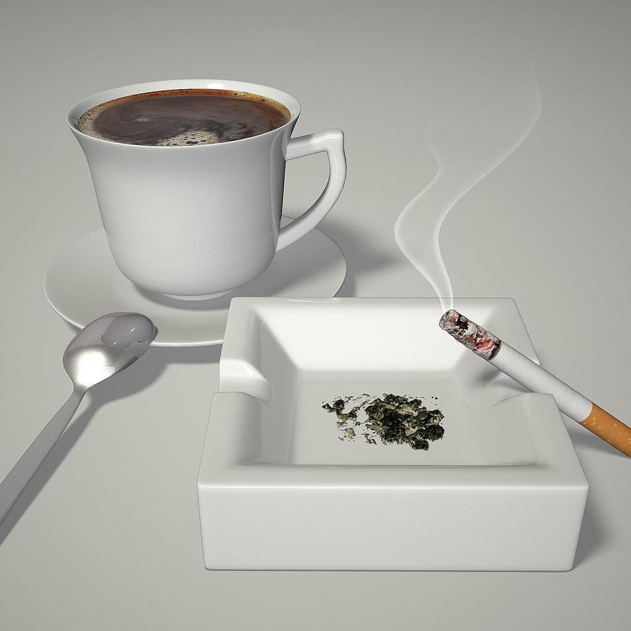 Kahve ve Sigara royalty-free 3d model - Preview no. 1