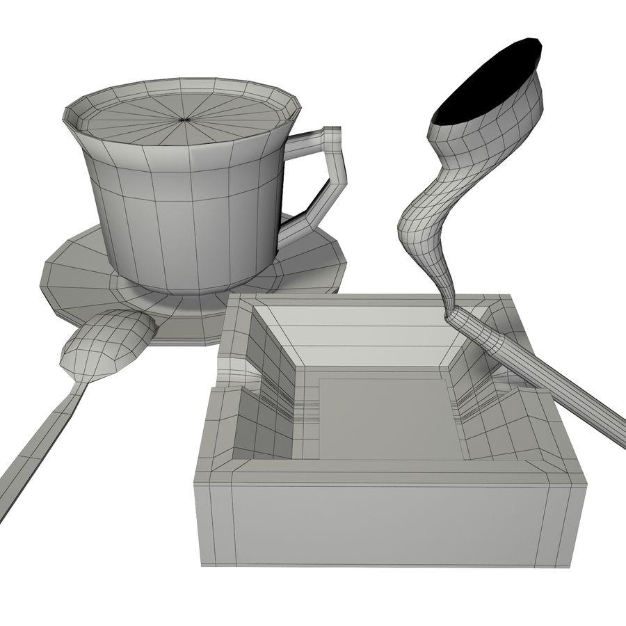 Kahve ve Sigara royalty-free 3d model - Preview no. 8