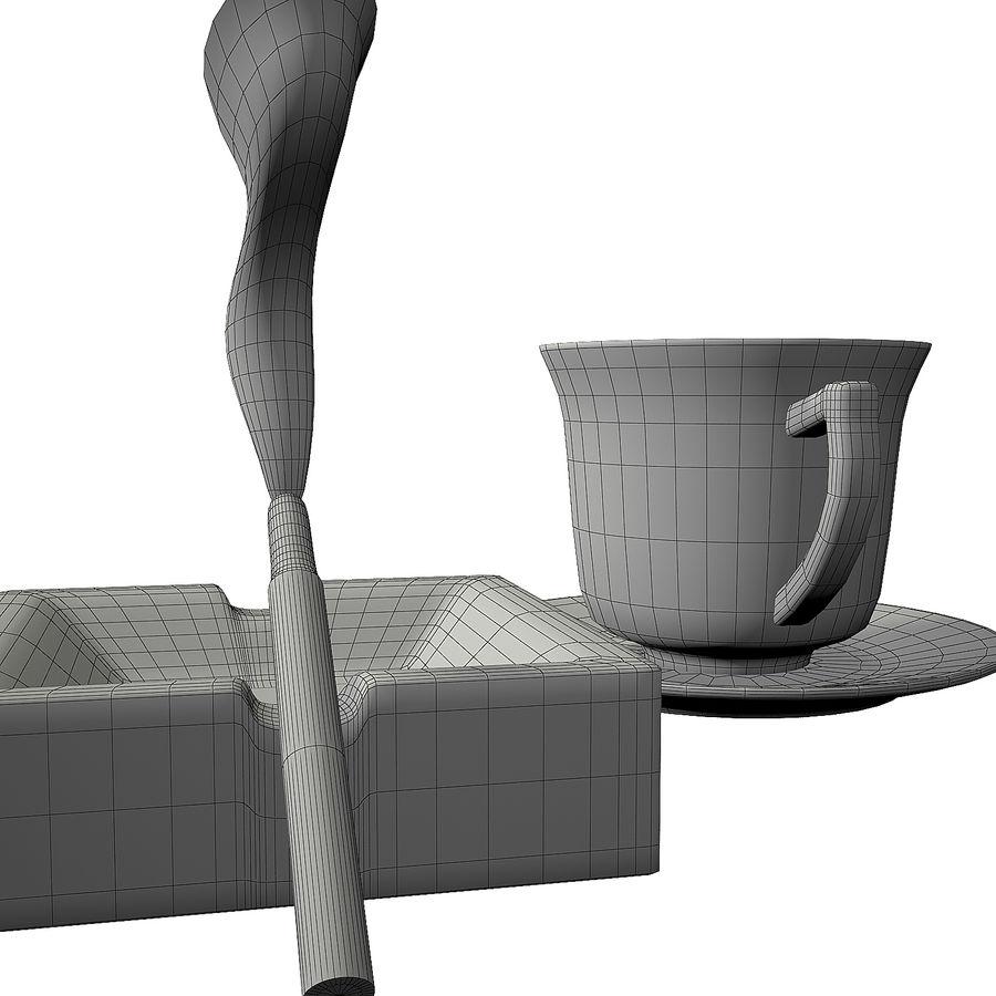 Kahve ve Sigara royalty-free 3d model - Preview no. 10