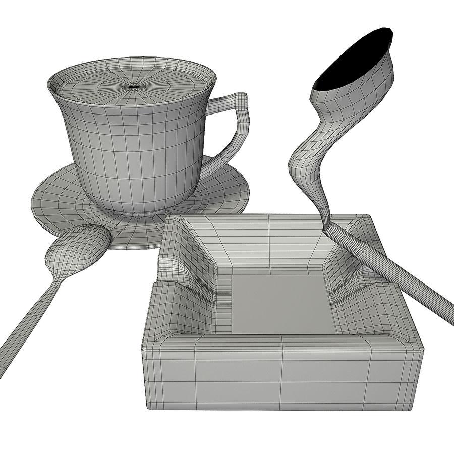 Kahve ve Sigara royalty-free 3d model - Preview no. 9