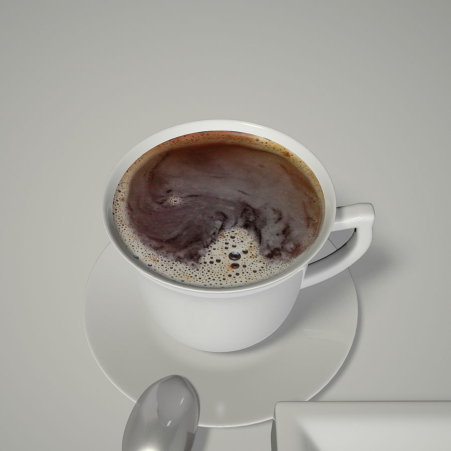 Kahve ve Sigara royalty-free 3d model - Preview no. 4