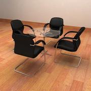 Chaises de réunion réalistes 3d model