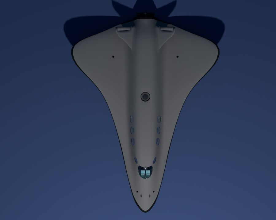 fictional spaceshuttle royalty-free 3d model - Preview no. 9